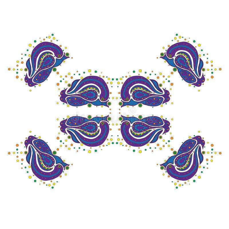 Elemento decorativo del vector - modelos y ornamentos 1 foto de archivo