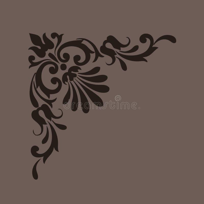 Elemento decorativo di disegno dell'annata illustrazione di stock