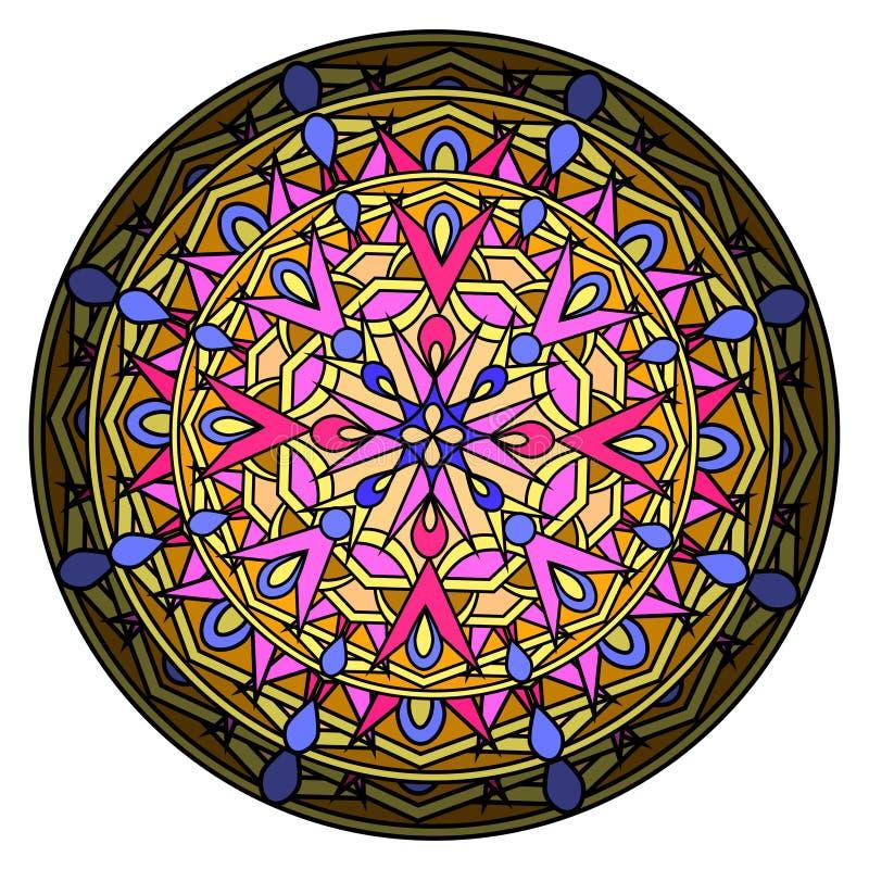 Elemento decorativo di progettazione del olour del ¡ di Ð con un modello circolare illustrazione di stock