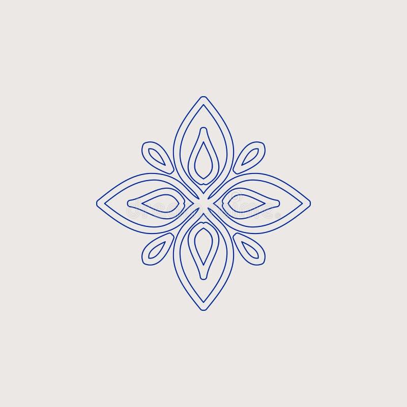 Elemento decorativo do projeto do vintage árabe fotos de stock royalty free
