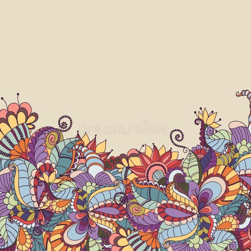 Elemento decorativo Fondo abstracto de la flor libre illustration