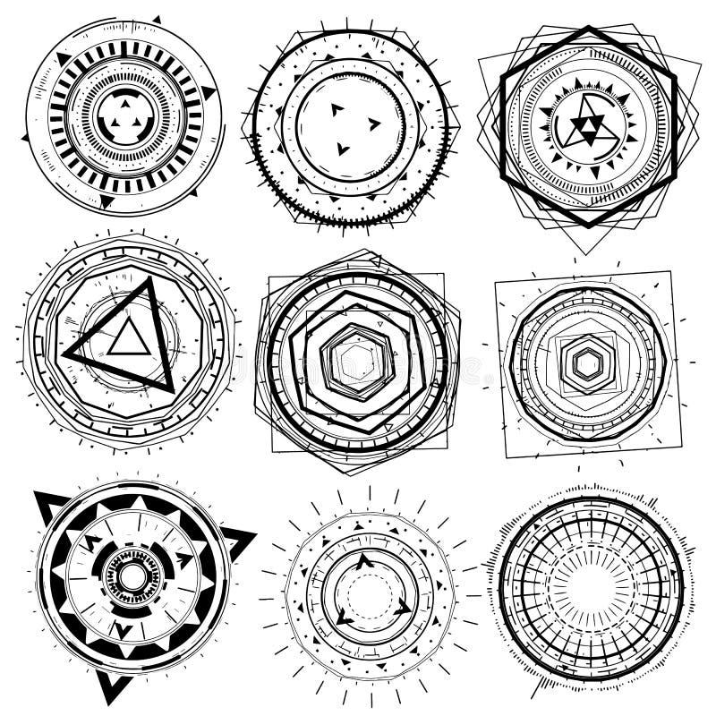 Elemento decorativo geométrico da forma do fio fotografia de stock