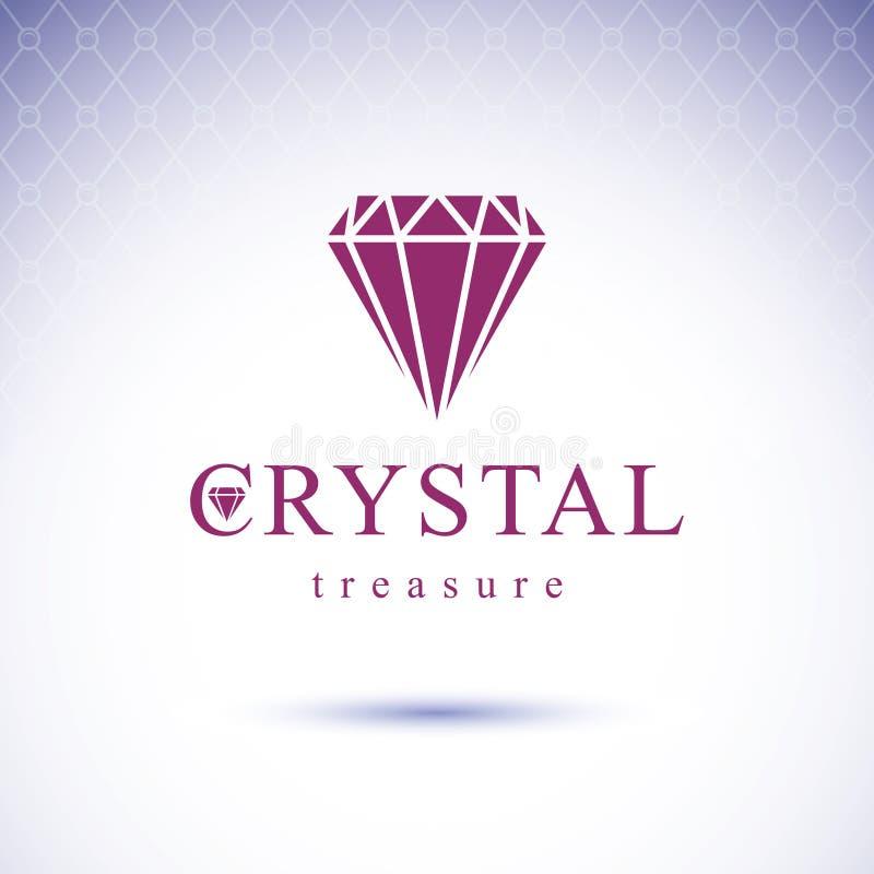 Elemento decorativo lapidado luxo do vetor Em lustroso do sinal do diamante ilustração royalty free
