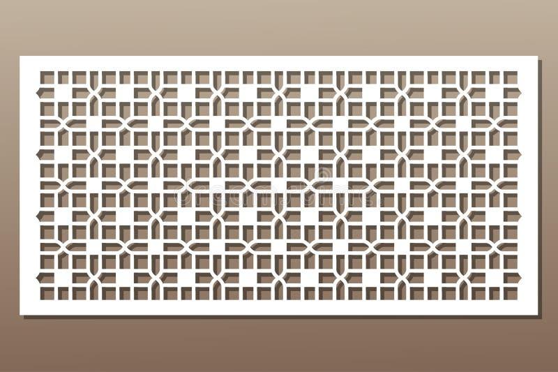 Elemento decorativo para el corte del laser Ornamento geométrico ilustración del vector
