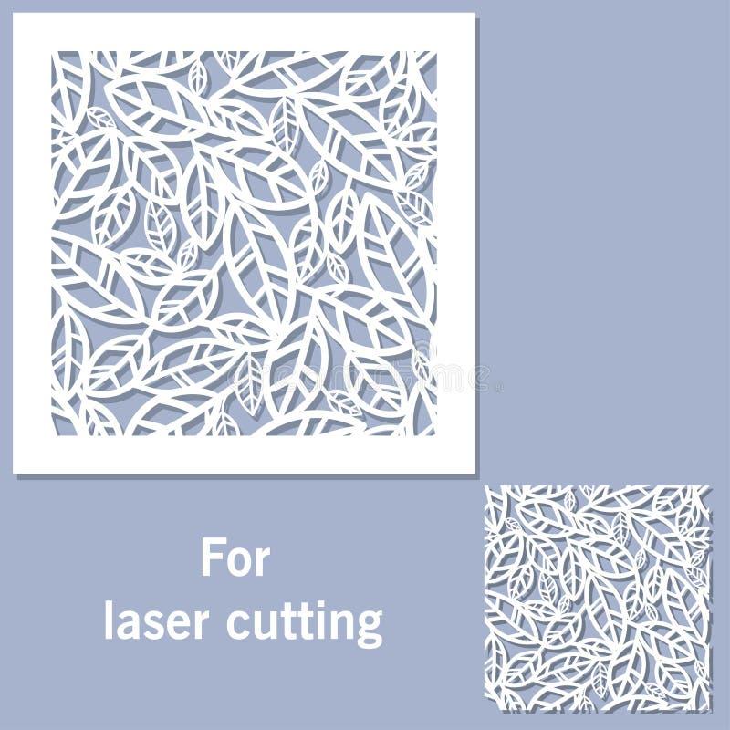 Elemento decorativo para o corte do laser ilustração do vetor