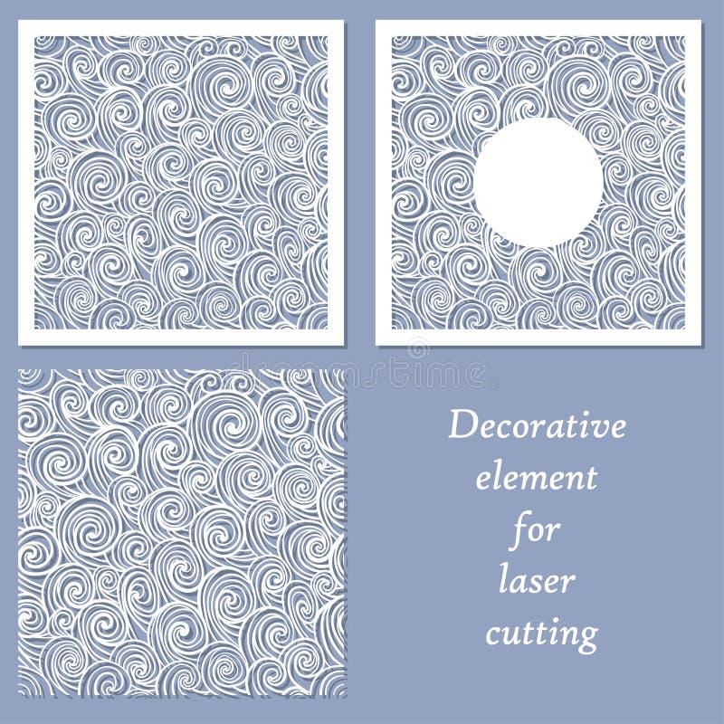 Elemento decorativo para o corte do laser ilustração stock