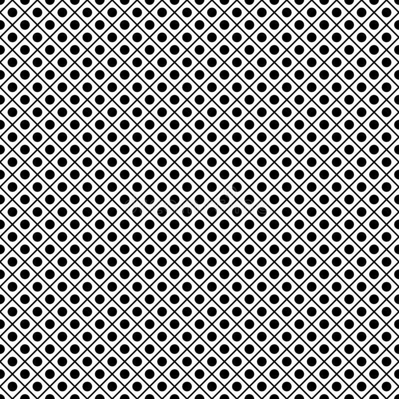 Elemento decorativo preto e branco Estrutura forte ilustração stock