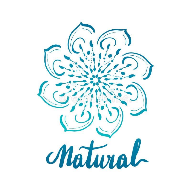 Elemento decorativo redondo do ornamento mandala ilustração stock