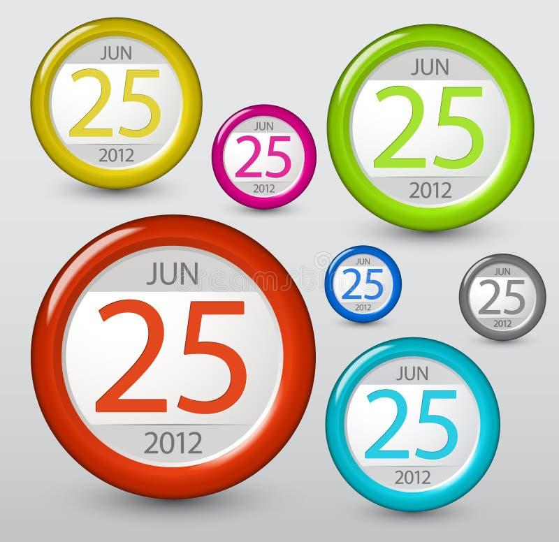 Elemento del calendario del vector para su Web stock de ilustración