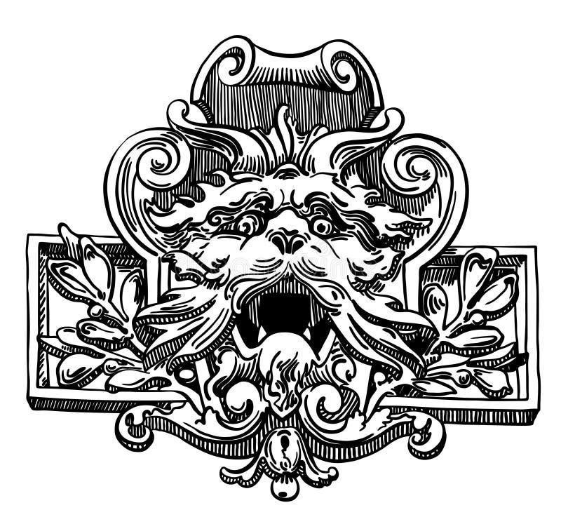 Elemento del dibujo de la tinta de Lviv (Ucrania) histórico ilustración del vector