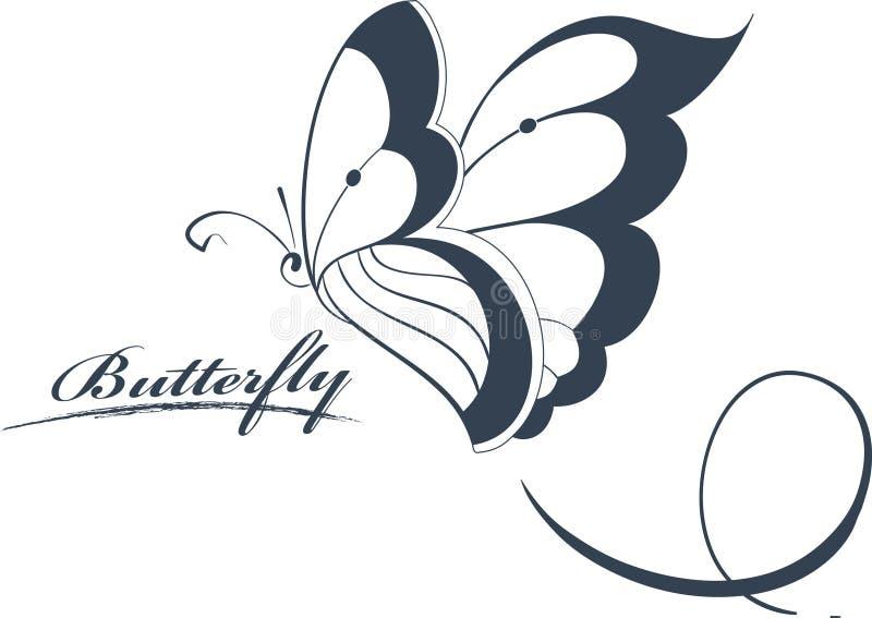 Elemento del diseño de la mariposa stock de ilustración