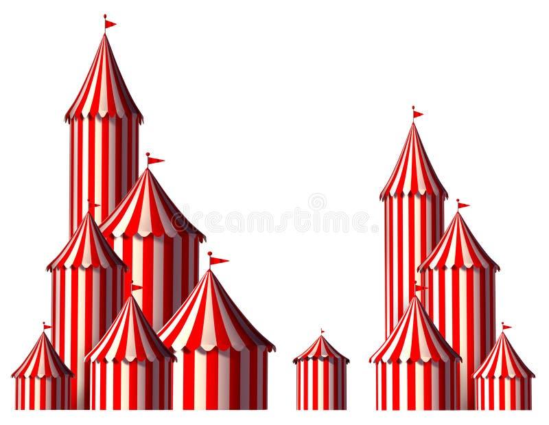 Elemento del diseño de la tienda de circo ilustración del vector
