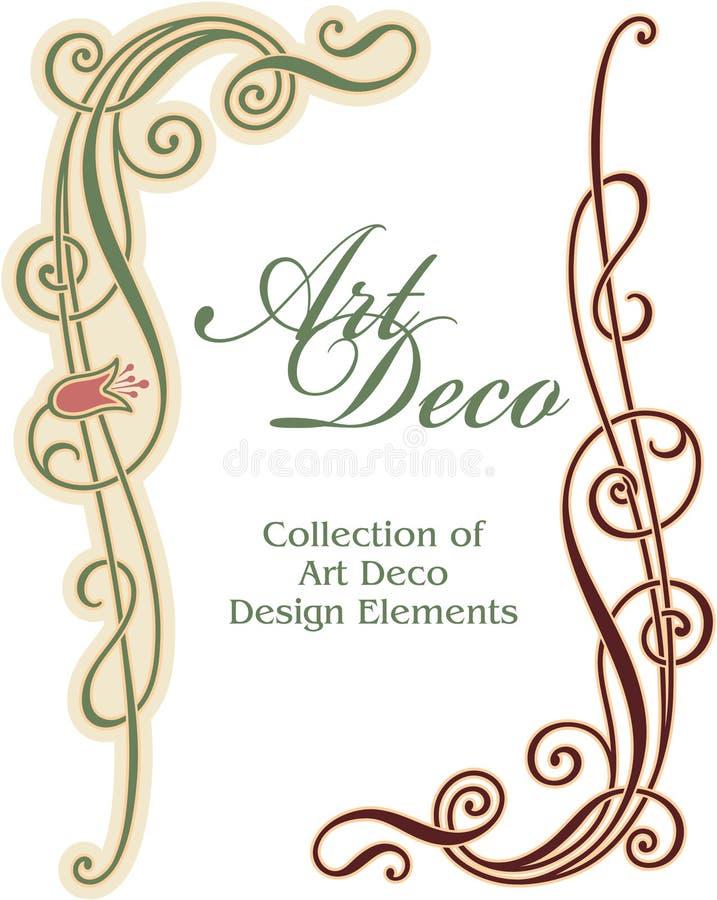 Elemento del diseño del art déco - esquina stock de ilustración