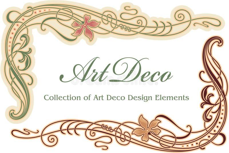 Elemento del diseño del art déco - esquina libre illustration