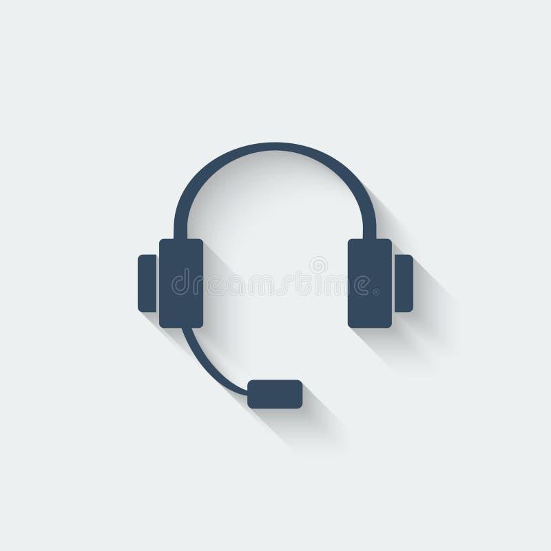 Elemento del diseño del auricular stock de ilustración