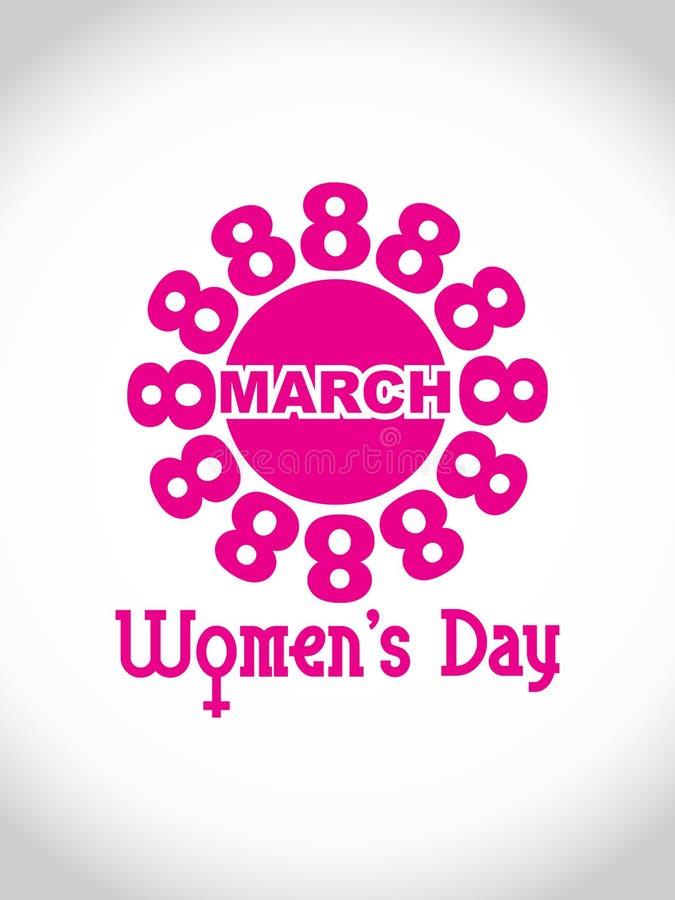Elemento del diseño del día de las mujeres creativas. stock de ilustración