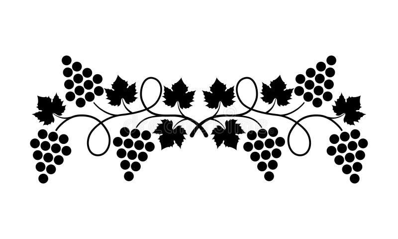 Elemento del diseño del _de la uva stock de ilustración