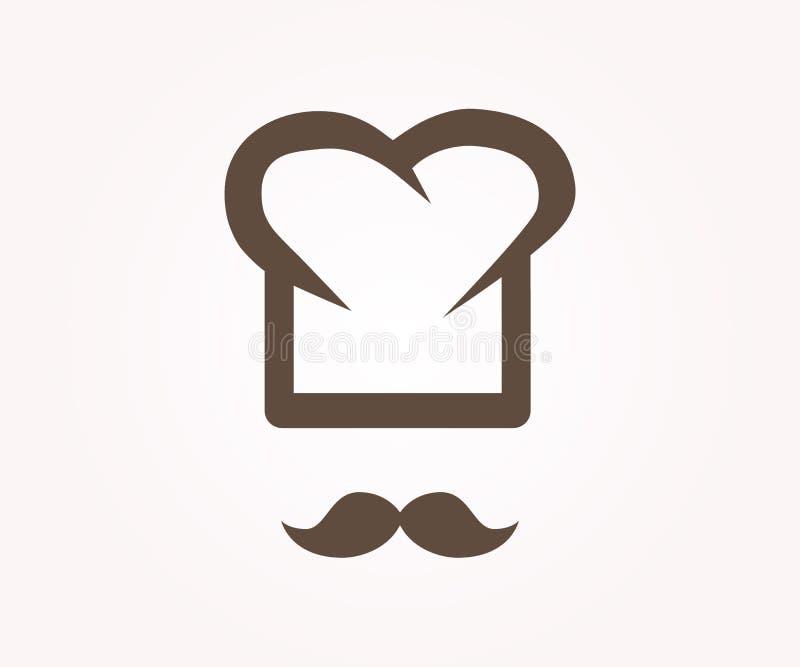 Elemento del diseño del logotipo del vector Cocinero, restaurante, cocinero stock de ilustración