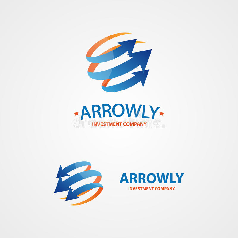 Elemento del diseño del logotipo del vector Flecha, alcance, círculo libre illustration
