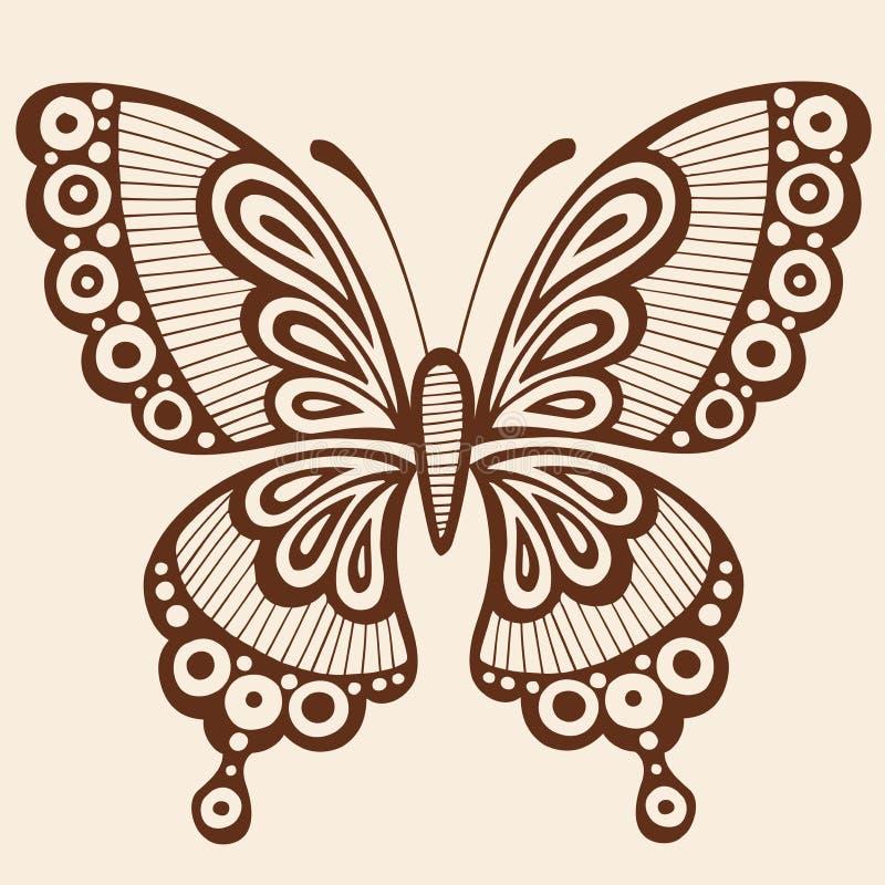 Elemento del diseño del vector de la silueta de la mariposa stock de ilustración