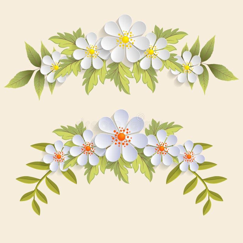 Elemento del dise o floral del vector para la decoraci n for Adornos para paginas