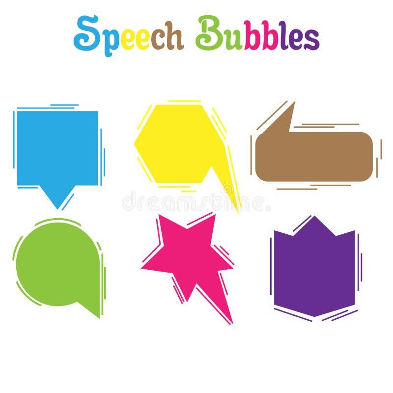 Elemento del fondo de la charla del icono del vector de la burbuja del discurso Charle el mensaje de la nube del texto de la comu ilustración del vector