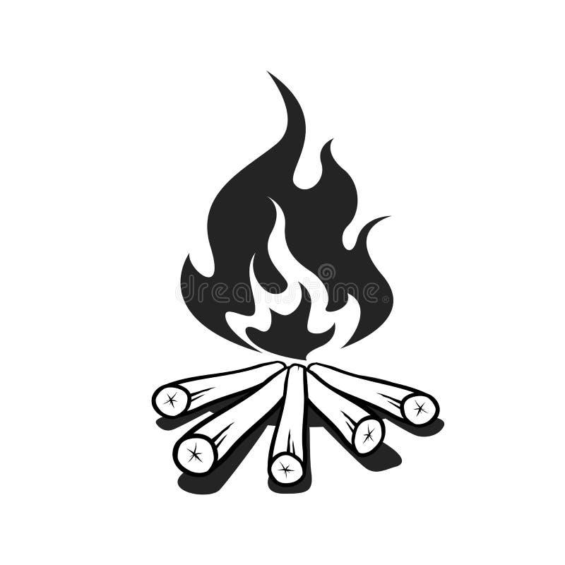 Elemento del fuoco di accampamento immagini stock