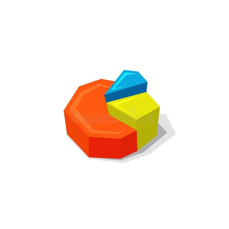 Elemento del gráfico de sectores, diagrama redondo infographic del negocio stock de ilustración