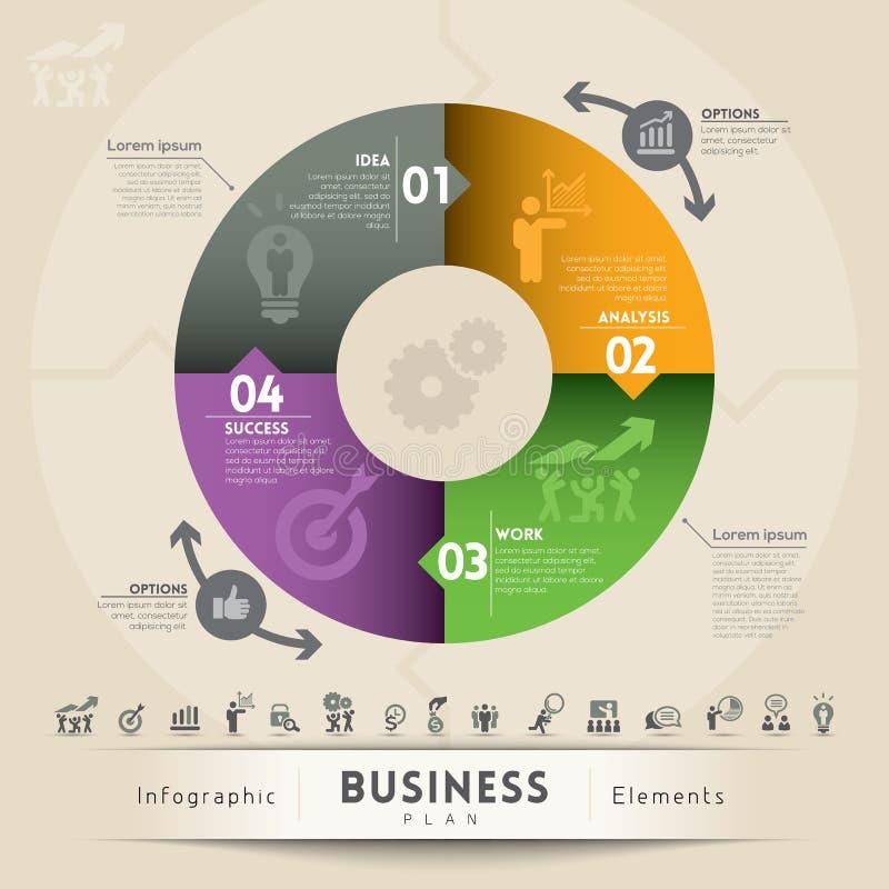 Elemento Del Gráfico Del Concepto Del Plan Empresarial Fotografía de archivo