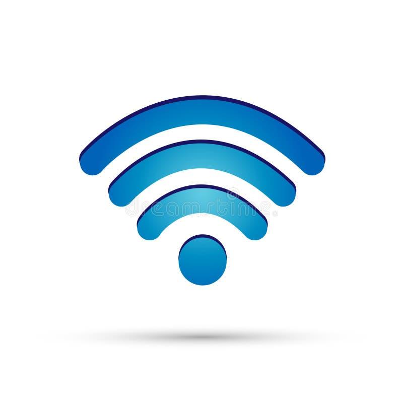 Elemento del icono de la conexión inalámbrica 3d del símbolo del icono de Wifi en el fondo blanco stock de ilustración