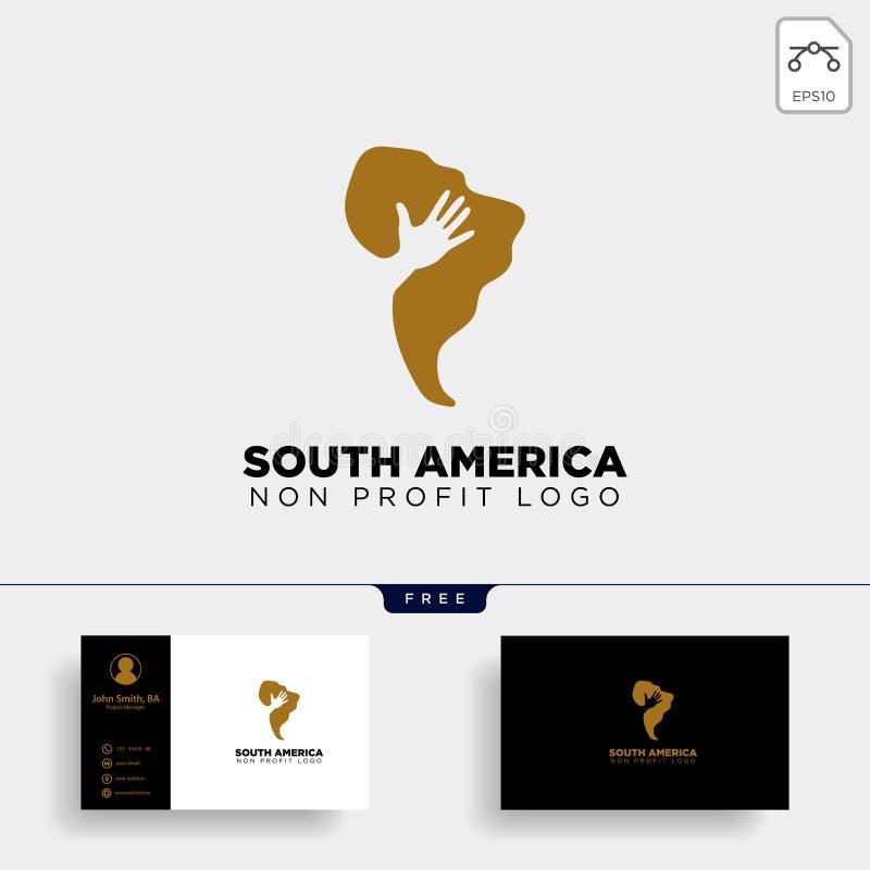 elemento del icono del ejemplo de la plantilla del logotipo de la caridad de Suráfrica stock de ilustración