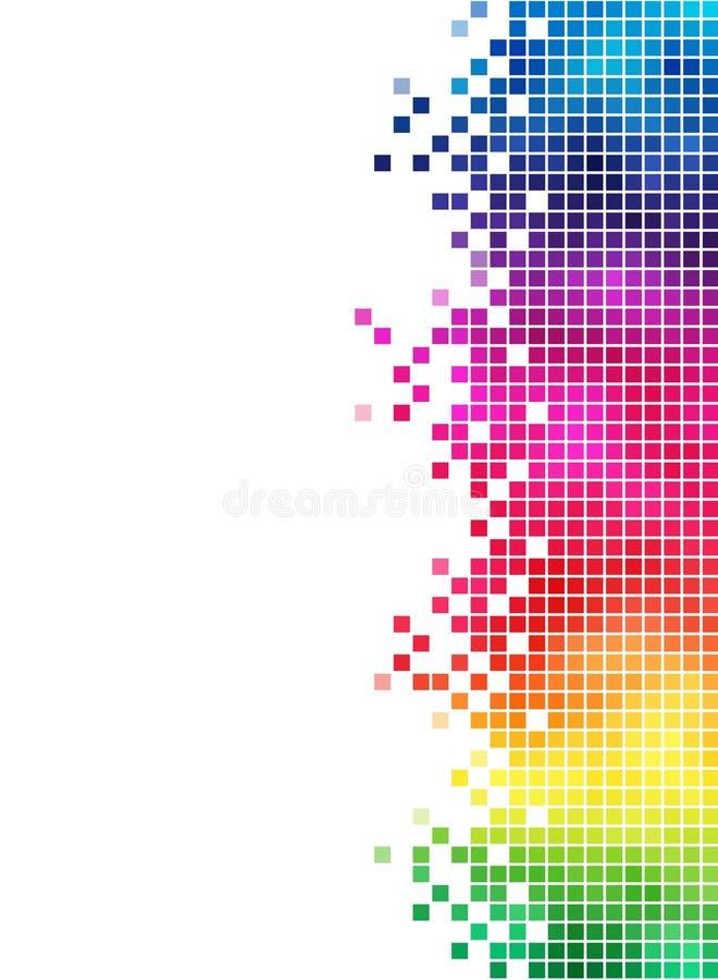 Elemento del lato del mosaico del Rainbow illustrazione vettoriale