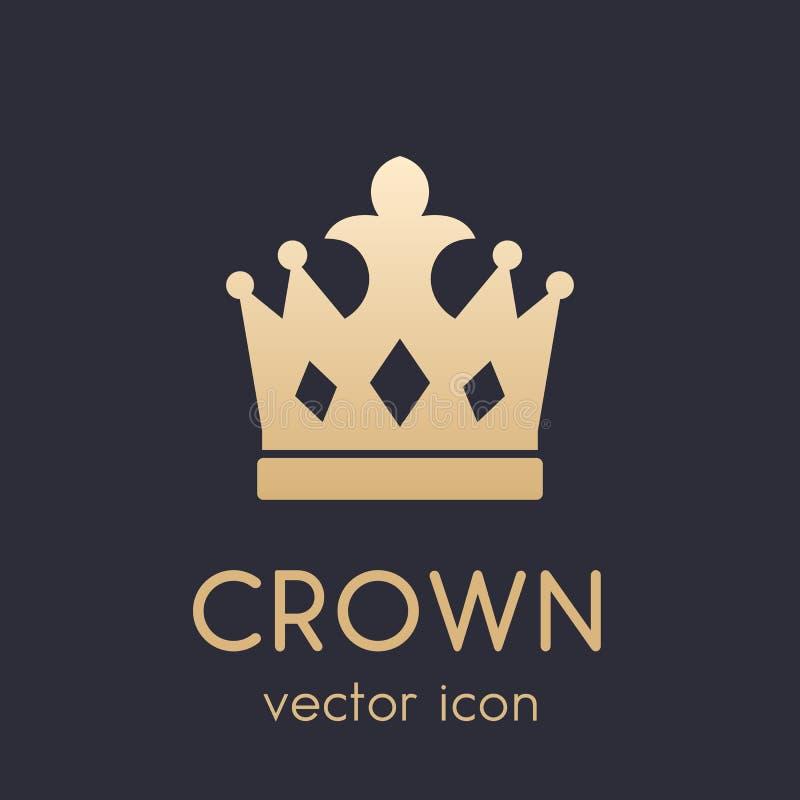 Elemento del logotipo de la corona, icono libre illustration