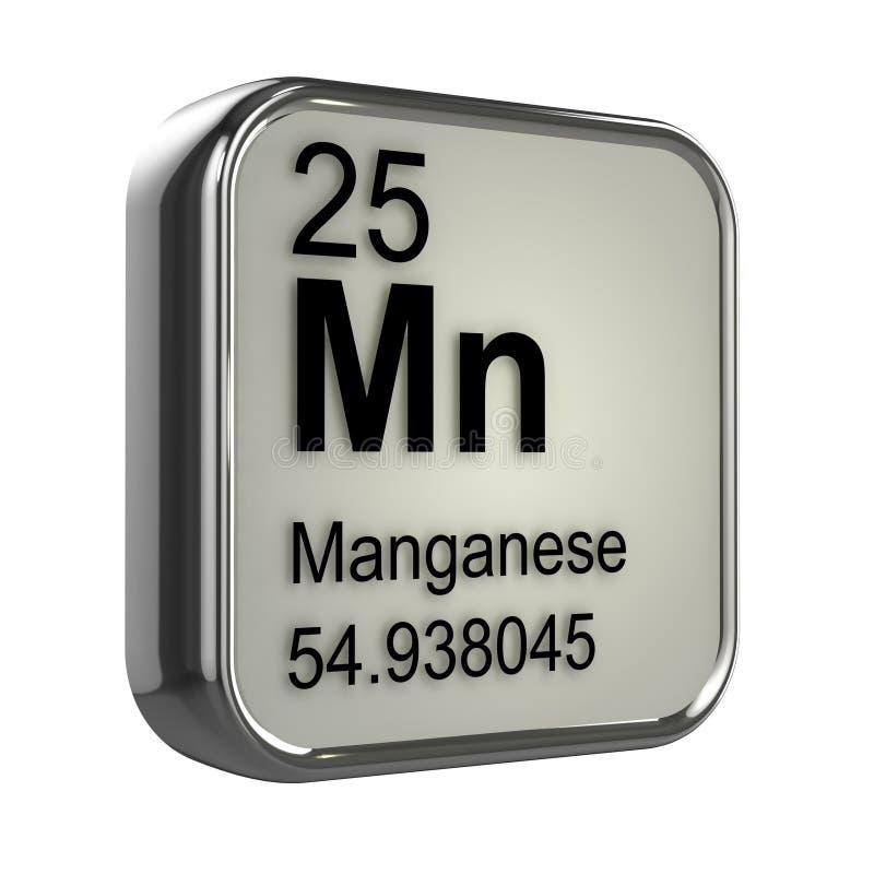 elemento del manganese 3d illustrazione vettoriale