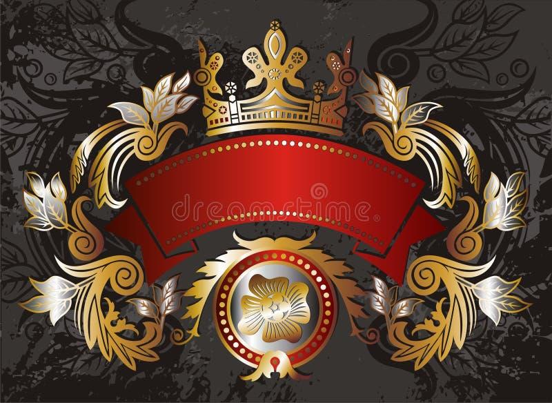 Elemento del marco del oro ilustración del vector