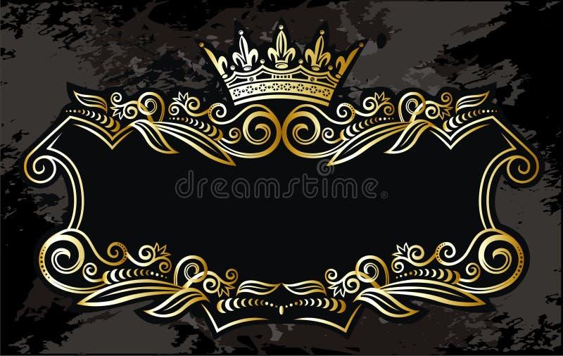 Elemento del marco del oro libre illustration