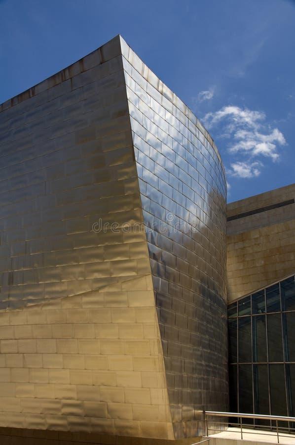 Elemento del museo de Guggenheim en Bilbao imágenes de archivo libres de regalías