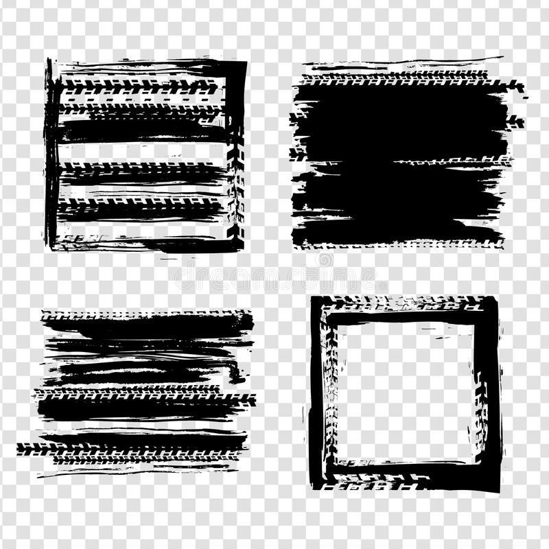 Elemento del neumático del Grunge libre illustration