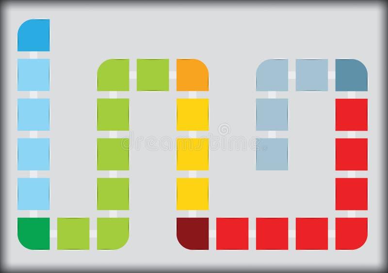 Elemento del organigrama ilustración del vector