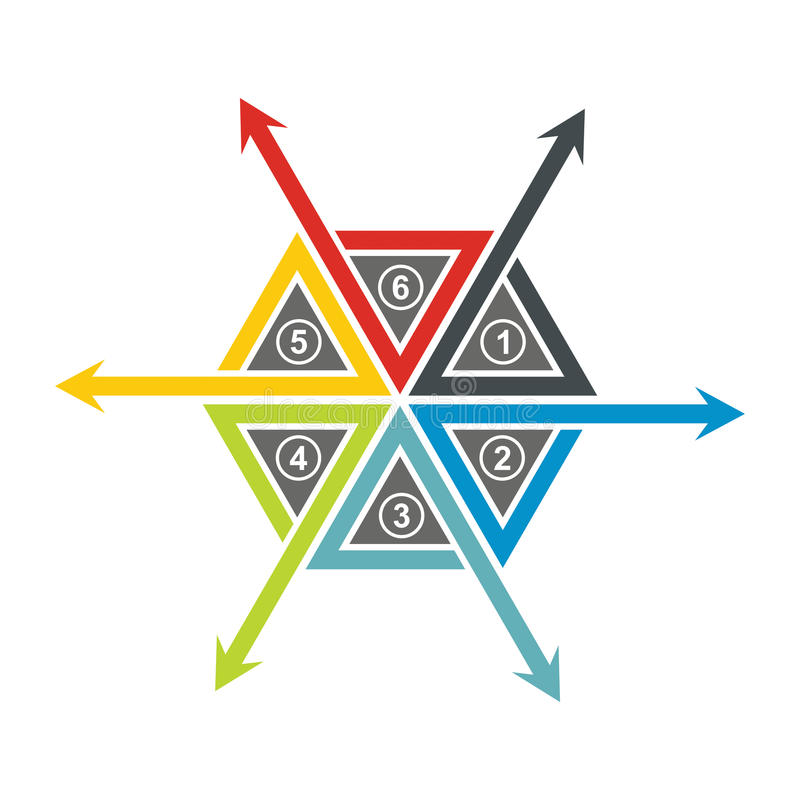Elemento del organigrama stock de ilustración