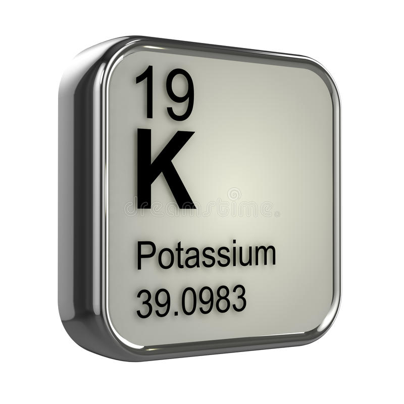 elemento del potasio 3d stock de ilustración