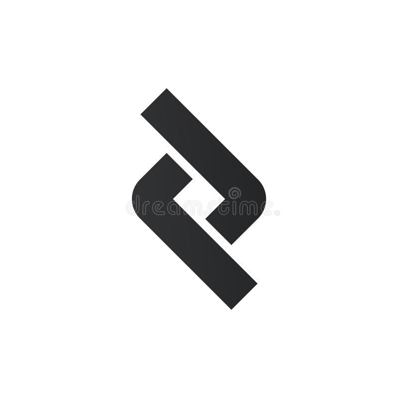 Elemento del vínculo o del diseño del logotipo de la conexión Elementos del dise?o gr?fico de vector para su logotipo de la compa ilustración del vector