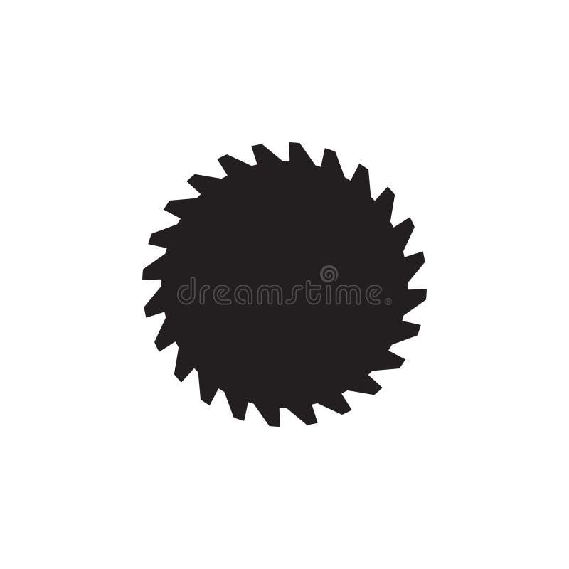 Elemento del vector de la plantilla del dise?o del logotipo del engranaje de la carpinter?a aislado ilustración del vector