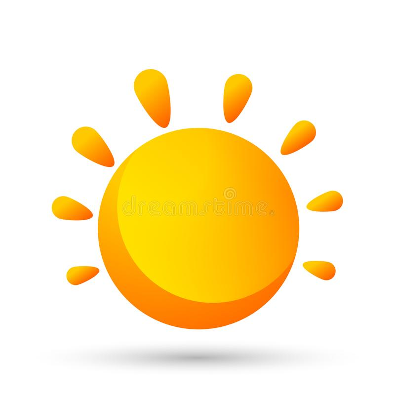 Elemento del vector del icono del logotipo del globo de Sun para el concepto del ordenador del m?vil y del infographics del dise? libre illustration