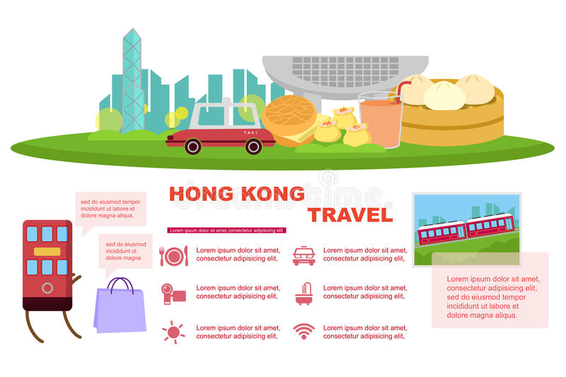 Elemento del viaje de Hong Kong ilustración del vector