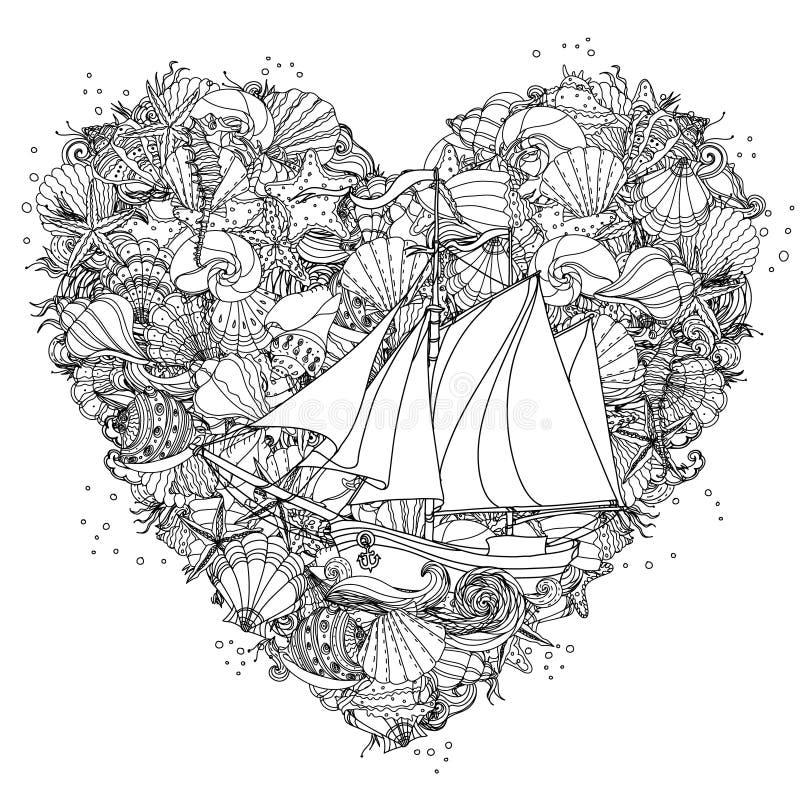 Elemento del zentangle del dibujo de la mano Rebecca 36 stock de ilustración