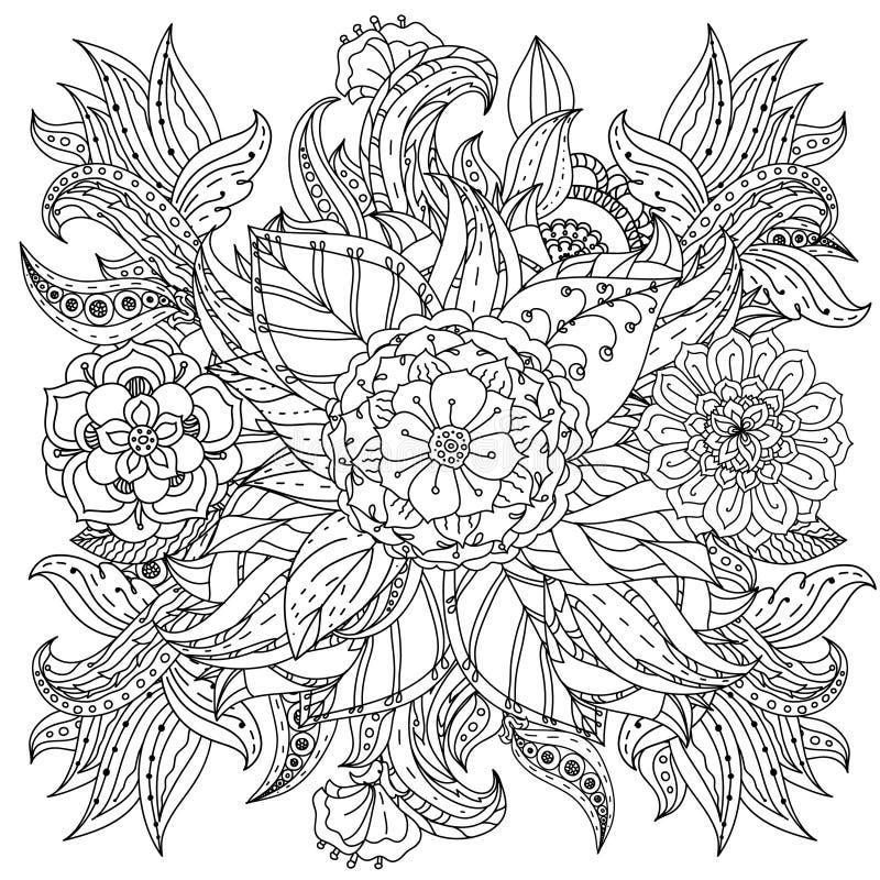 Elemento del zentangle del dibujo de la mano Rebecca 36 ilustración del vector