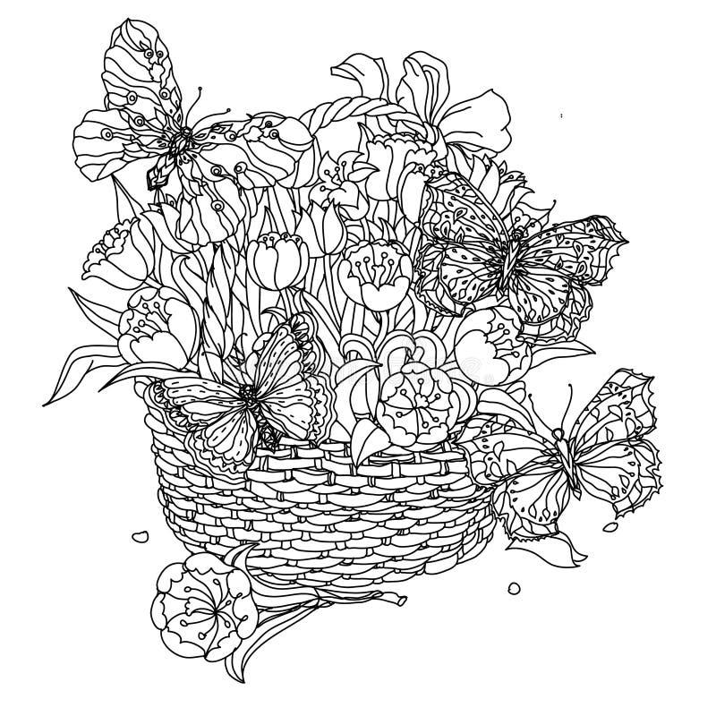Elemento del zentangle del dibujo de la mano Rebecca 36 Mandala de la flor stock de ilustración