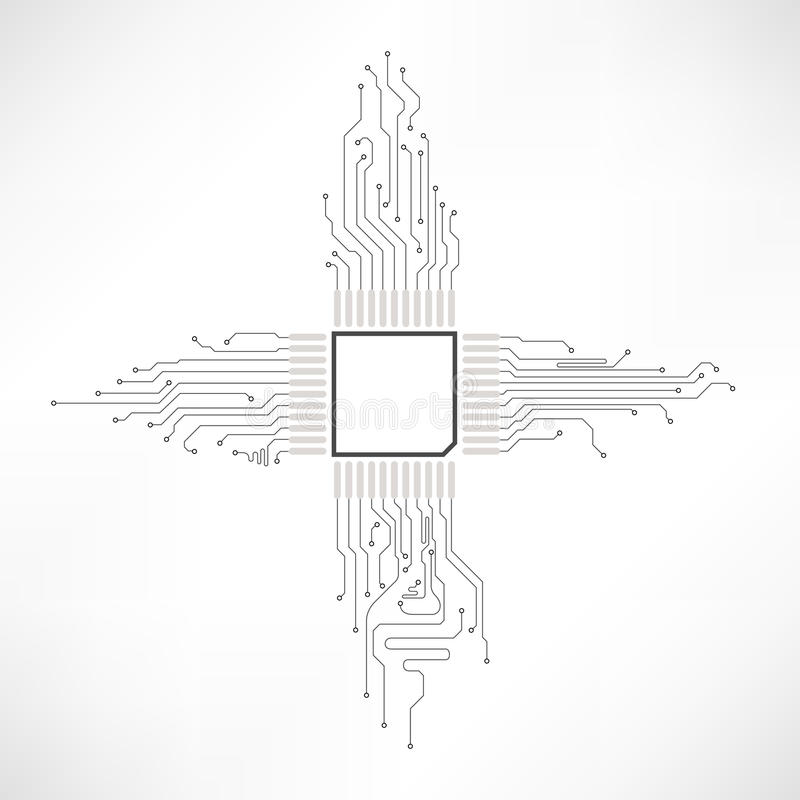 Elemento dell'estratto del circuito illustrazione vettoriale