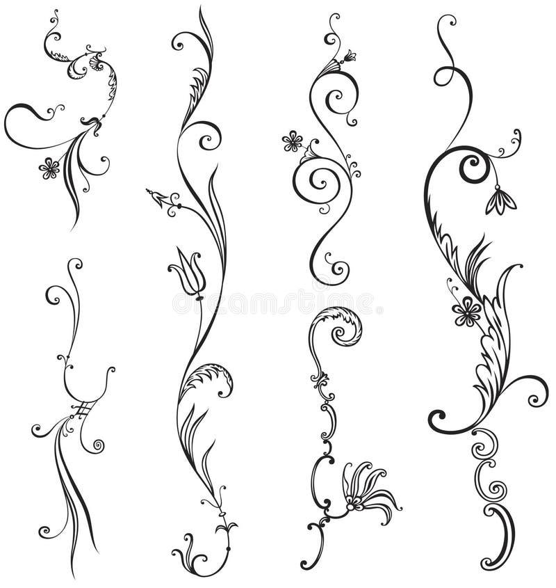 Elemento della decorazione della sorgente illustrazione di stock